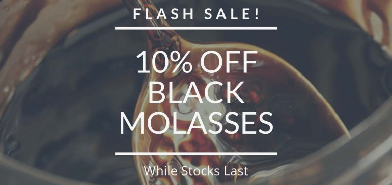 10% Off Organic Black Strap Molasses